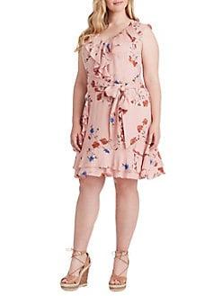 4cc1ce466409 QUICK VIEW. Jessica Simpson. Plus Nimah Ruffle Tie Dress