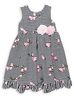 743c4f98061 Product image. QUICK VIEW. Pastourelle by Pippa   Julie. Little Girl s  Striped Floral Ruffle ...