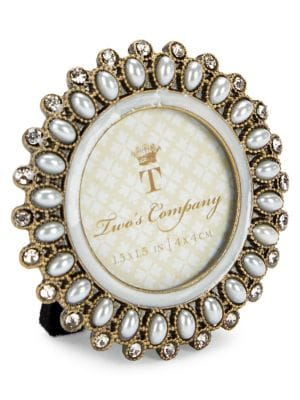 Image of Precious Pearls Jeweled Mini Round Frame