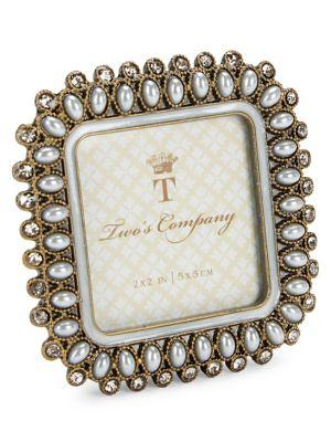 Image of Precious Pearls Jeweled Mini Square Frame