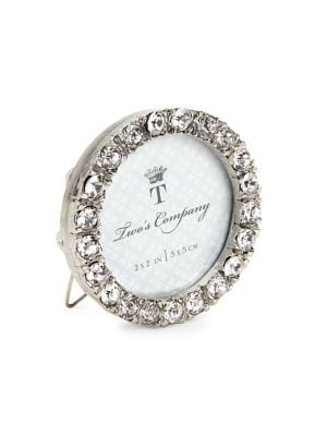 Image of Small Round Jeweled Picture Frame
