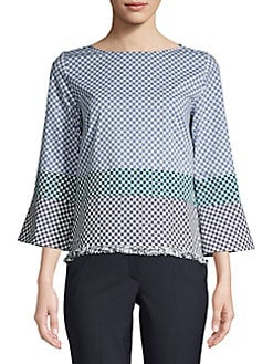 aed81094c9fdc QUICK VIEW. Marella. Checkered Long-Sleeve Top