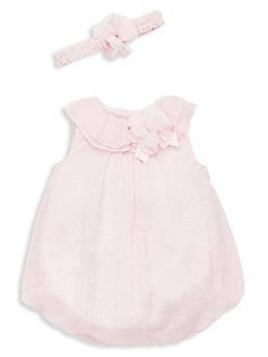 9a25711ca551 QUICK VIEW. Little Me. Baby Girl s 2-Piece Bubble Dress with Headband Set.   28.00