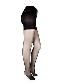 7f3137ddcdf7 Sheer Control Top Tights NAVY. QUICK VIEW. Product image
