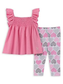 25958e6583ca Baby Girl's 2-Piece Heart Legging Set PINK. QUICK VIEW. Product image