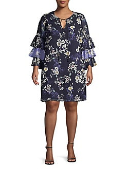 eb009f060394 QUICK VIEW. Vince Camuto. Plus Floral-Print Shift Dress