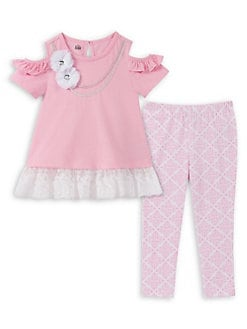 d72c10498 Product image. QUICK VIEW. Kids Headquarters. Little Girl's 2-Piece Ruffled Legging  Set