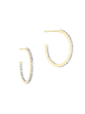 cd45df14e Adina Reyter - 14K Yellow Gold and Diamond Small Pavé Hoop Earrings