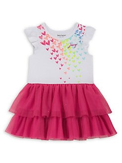 Little Girl s Flutter Sleeve Tulle Dress PINK. QUICK VIEW. Product image b532ac753