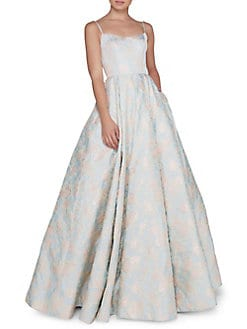 7defa5f1e0bf4 Embroidered Floral Ball Gown PASTEL BLUE. QUICK VIEW. Product image