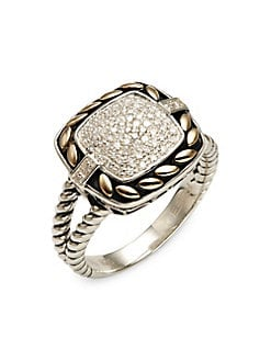 06b3c9ea2 Product image. QUICK VIEW. Effy. 925 Sterling Silver, 18K Yellow Gold & Diamond  Ring