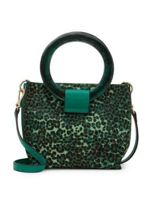 Image of Iggy Leopard Calf Hair Leather Crossbody Bag
