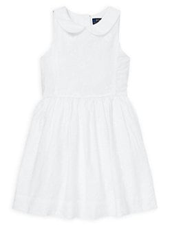 6e517b9132fff Product image. QUICK VIEW. Ralph Lauren Childrenswear. Little Girl's Floral  Embroidered Cotton Dress