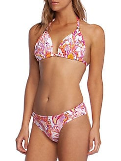 b925d248f61 Paisley-Print Bikini Top PINK. QUICK VIEW. Product image