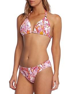 19378aeca1ce6 QUICK VIEW. Lauren Ralph Lauren. Paisley-Print Bikini Top