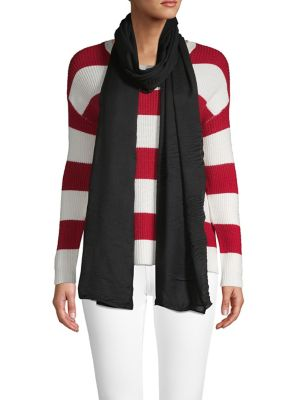 Image of Pleated Ruffle Oblong Scarf
