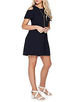 f2da15127c16 Cold-Shoulder Shift Dress NAVY. QUICK VIEW. Product image