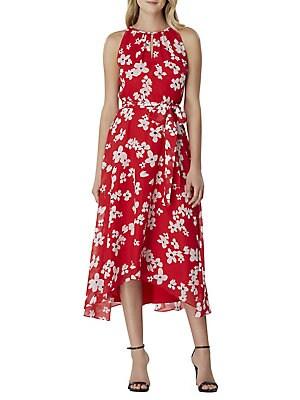712e9bb18cae Tahari Arthur S. Levine - Floral Printed Ruffle Wrap Dress ...