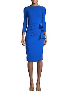 Ruffled Sheath Dress BLUE. QUICK VIEW. Product image 7193fad621ef