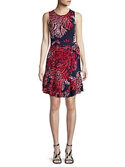 ca86dfcaf427a6 Product image. QUICK VIEW. MICHAEL Michael Kors. Printed Ruffle Shift Dress