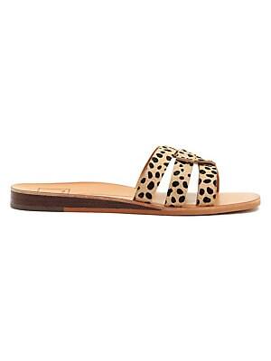c4042110ae09 Dolce Vita - Cait Leopard-Print Calf Hair Slides - lordandtaylor.com