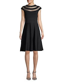Black A-Line Cocktail Dress