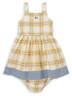 58f32cb11 QUICK VIEW. Ralph Lauren Childrenswear. Baby Girl s Plaid 2-Piece Cotton  Dress   Bloomers Set