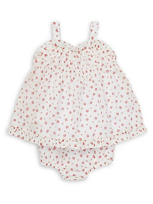 c90a23bce9 Ralph Lauren Childrenswear - Baby Girl's 2-Piece Floral Ruffled Cotton Top  & Bloomers Set