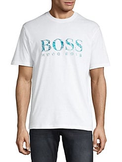 5c7ac6f34fd7d Product image. QUICK VIEW. BOSS. Textured Logo Graphic Tee