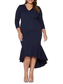 498a0a872db97 Product image. QUICK VIEW. QUIZ CURVE. Plus Trumpet Skirt Wrap Dress