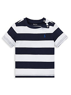 b7eb26cf6 Baby Boy's Striped Cotton Jersey Tee NAVY MULTI. QUICK VIEW. Product image