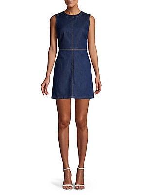 18b4383d2f3 French Connection - Linaira Denim Mini A-Line Dress - lordandtaylor.com