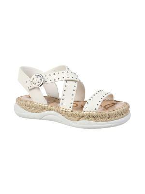 Image of Janette Studded Leather Espadrille Sandals