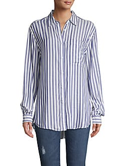 f6f1c264 QUICK VIEW. Philosophy Apparel. Striped Button-Front Blouse