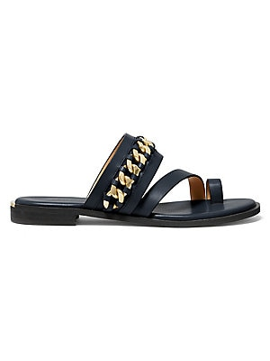 3599bfa3c402 MICHAEL Michael Kors - Frieda Embellished Leather Slides ...