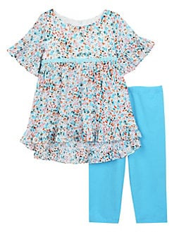 36f5334afb Baby Girl s 2-Piece Floral Top   Leggings Set MULTI. QUICK VIEW. Product  image
