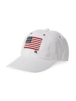 3c249b73d28 Product image. QUICK VIEW. Polo Ralph Lauren. Flag Cotton Chino Baseball Cap