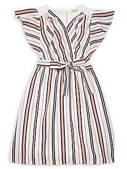 a1323c119bf Product image. QUICK VIEW. Monteau. Girl s Striped Wrap Dress