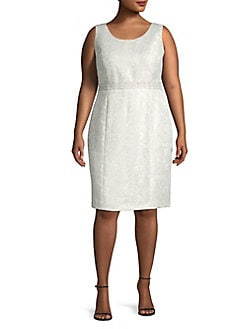 fadecca244f QUICK VIEW. Kasper. Plus Embroidered Sheath Dress