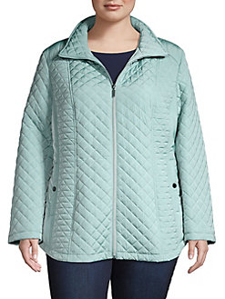 97d56cf709b QUICK VIEW. Gallery. Plus Relaxed-Fit Quilted Jacket
