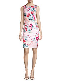 06046657cf9 QUICK VIEW. Calvin Klein. Floral Pintuck Sheath Dress