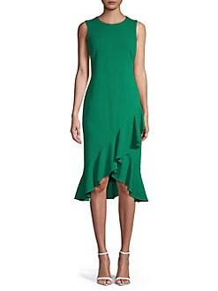 QUICK VIEW. Calvin Klein. Ruffled Sheath Dress 6462bf4409