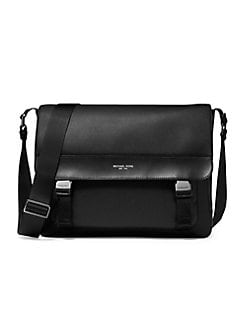 3506a89427718 Greyson Leather Messenger Bag BLACK. QUICK VIEW. Product image