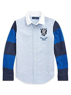 9494c1b7 Boy's Colorblock Oxford Shirt BLUE. QUICK VIEW. Product image. QUICK VIEW. Ralph  Lauren Childrenswear
