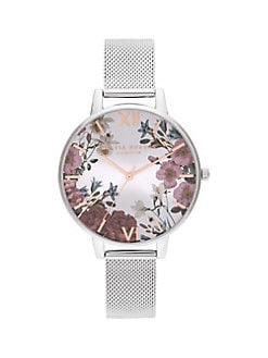 d2771bfe5 Product image. QUICK VIEW. Olivia Burton. British Blooms Stainless Steel  Mesh Bracelet Watch. $150.00 · Bee Rose-Goldplated & Leather Strap Watch  GREY