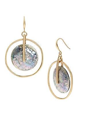 d7bbf043c Robert Lee Morris - Geometric Abalone Stone Orbital Earrings ...