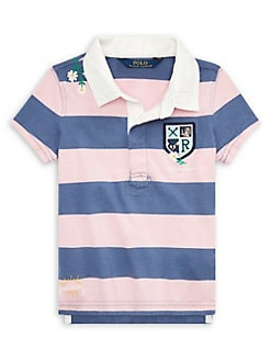 939a0644e25ad QUICK VIEW. Ralph Lauren Childrenswear. Little Girl s Embroidered Cotton  Rugby Shirt