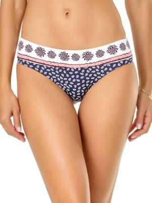 f9365afcc498e Low-Rise Leaf Printed Bikini Bottom photo