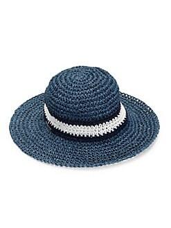 a2db92a8 Product image. QUICK VIEW. Lauren Ralph Lauren. Colorblock Straw Beach Hat