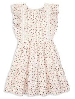c93c7f25962 QUICK VIEW. Ralph Lauren Childrenswear. Little Girl s   Girl s Floral Cotton  Fit   Flare Dress